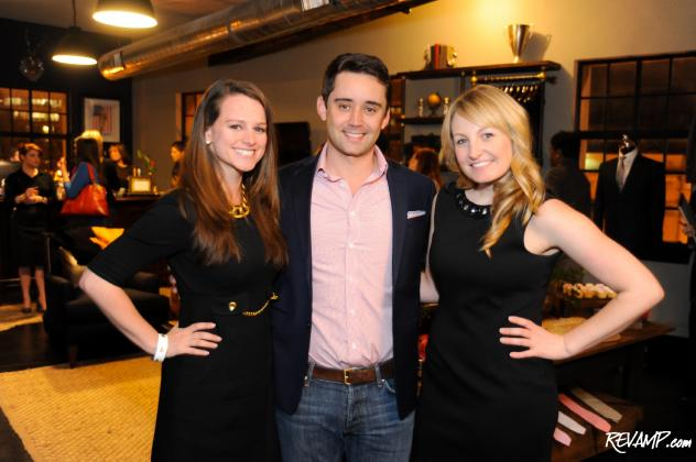 Evening co-hosts Allison Prescott and Lauren Pomponio flank Alton Lane co-founder Colin Hunter.