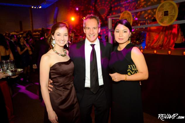 Silk Road Society founder Carly Pippin, 'Club Caravan' host chair Winston Lord, and Sackler Assistant Curator of Contemporary Asian Art Carol Huh.