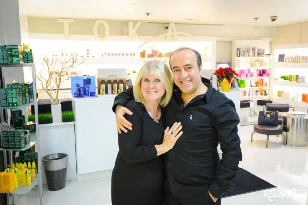 (R-L) Toka Salon co-owners Nuri and Teresa Yurt.
