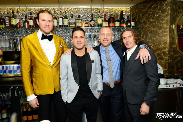 HEIST owners Timothy Sheldon, Patrick Osuna, and Charles Koch with Keystone Hospitality's Kristopher Carr.