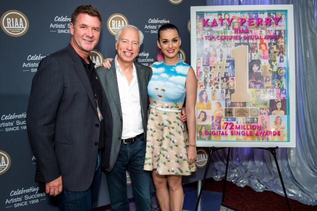 Greg Thompson, Capitol Music Group EVP; Recording Industry Association of America Chairman and CEO Cary Sherman; Katy Perry.